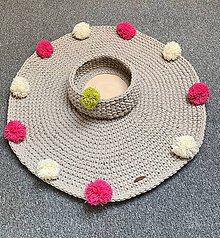 Úžitkový textil - Háčkvaný koberec - 10622141_