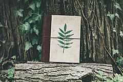 - Prírodný A5 zápisník (juta, drevo, koža) - 10618811_