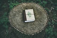 - Prírodný A6 zápisník (juta, koža) - 10618820_