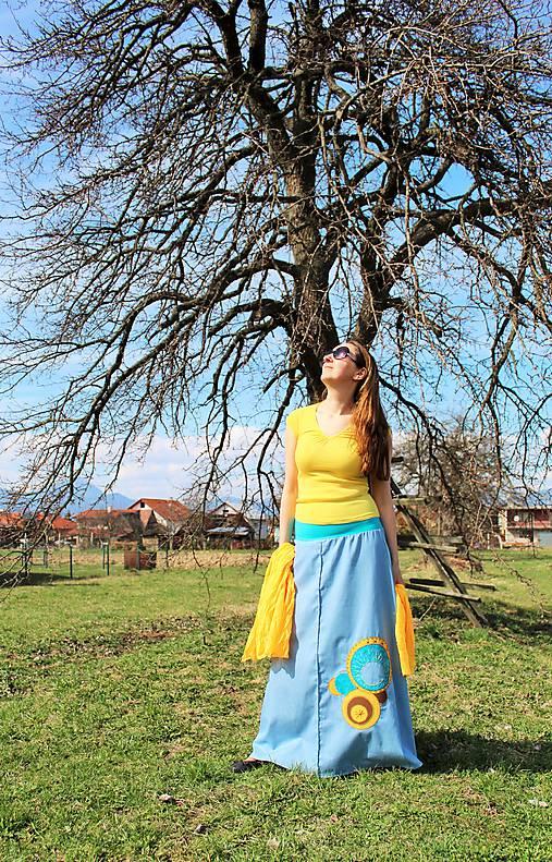 Maxi modro-žltá SKLADOM