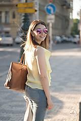 Tielka - Žltý top s volánom - 10620363_