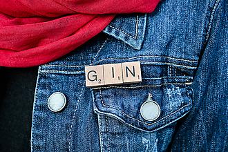 Odznaky/Brošne - Povedz to brošňou - Gin - 10619427_