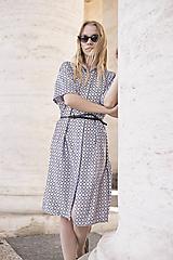 Šaty - Košeľové šaty čierno-biele - 10622449_