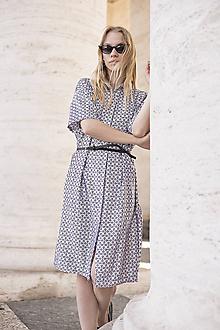 b11a1056f Šaty - Košeľové šaty čierno-biele - 10622449_