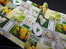 Úžitkový textil - Jarná kolekcia - kvety v záhrade (136×40 cm) - 10622972_