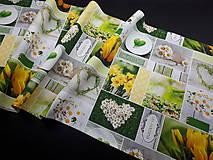 Úžitkový textil - Jarná kolekcia - kvety v záhrade (136×40 cm) - 10622984_