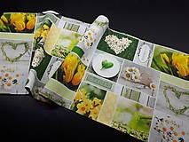 Úžitkový textil - Jarná kolekcia - kvety v záhrade (80×30 cm) - 10623014_