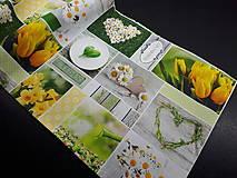 Úžitkový textil - Jarná kolekcia - kvety v záhrade (80×30 cm) - 10623015_