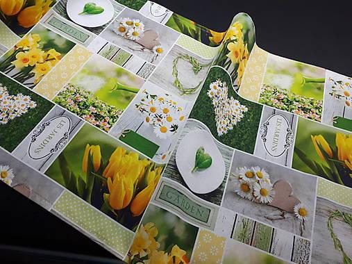 Jarná kolekcia - kvety v záhrade (136×40 cm)