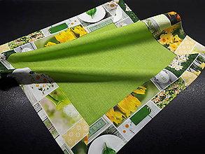 Úžitkový textil - Jarná kolekcia - kvety v záhrade (50×50 cm s lemom) - 10622955_