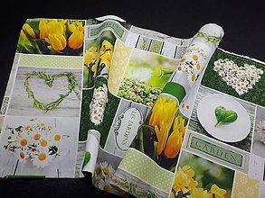 Úžitkový textil - Jarná kolekcia - kvety v záhrade (80×30 cm) - 10623011_