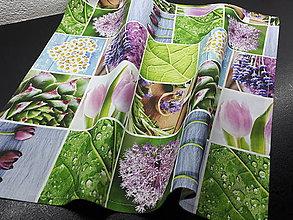Úžitkový textil - Jarný set  (Prestieranie kvetinové 50×50 cm) - 10624630_