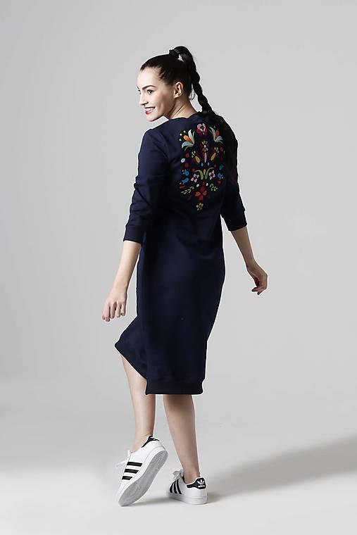 5b03e2ca174f Teplákové šaty modré s výšivkou   ZuzanaZachar - SAShE.sk - Handmade ...