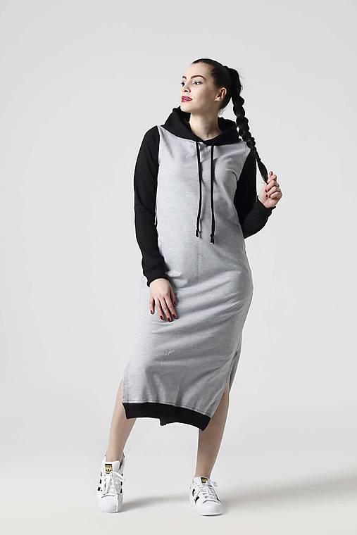 c3ed7e025480 Teplákové šaty dvojfarebné   ZuzanaZachar - SAShE.sk - Handmade Šaty