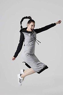 Šaty - Teplákové šaty dvojfarebné - 10624958_
