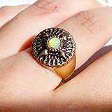 Prstene - Elegant Filigree Ethiopian Opal Ring / Filigránový prsteň s opálom #2071 - 10623661_