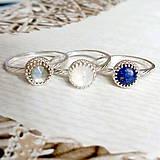 Prstene - Smooth Lapis Lazuli AG925 Ring / Jemný strieborný prsteň s lazuritom #2075 - 10624986_