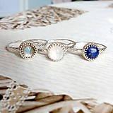 Prstene - Smooth Lapis Lazuli AG925 Ring / Jemný strieborný prsteň s lazuritom #2075 - 10624987_