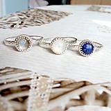 Prstene - Smooth Lapis Lazuli AG925 Ring / Jemný strieborný prsteň s lazuritom #2075 - 10624988_