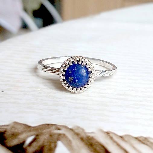 Smooth Lapis Lazuli AG925 Ring / Jemný strieborný prsteň s lazuritom #2075