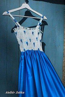Šaty - Hedvábné šaty Kousek nebe - 10625340_