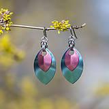 Náušnice - Náušnice Double Luxury - světle modrá a růžová - 10623885_