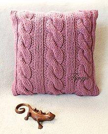 Úžitkový textil - Vankúš  (Fialová) - 10624175_