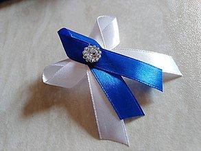 Pierka - Kráľovsky modrá svadobné pierka - 10623596_