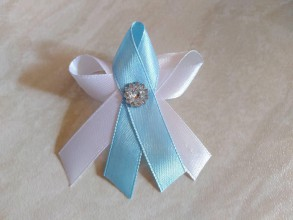 Pierka - Jemná modrá svadobné pierka - 10623604_