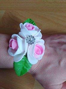 Iné doplnky - náramky pre družičky bielo ružová - 10625246_
