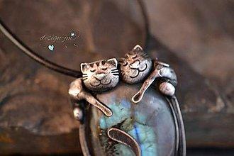 Náhrdelníky - Ospalá koťata - 10623945_