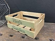 """Nábytok - Debnička """" Herb Garden"""" - 10624849_"""