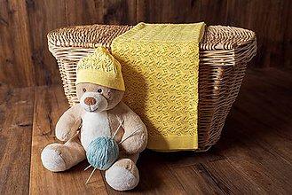 "Textil - Detská deka na leto, ""Miss"", OEKO-TEX® - Žltá - 10624548_"