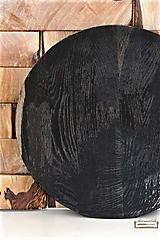 Nádoby - Dubová misa čierna Ø33,5 - 10624060_