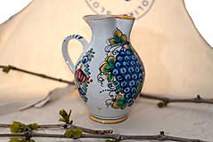 Nádoby - Farebný džbán na víno s hroznom - 10623019_