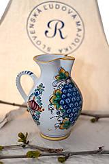 Nádoby - Farebný džbán na víno s hroznom - 10623027_