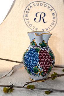 Nádoby - Farebný džbán na víno s hroznom - 10623016_