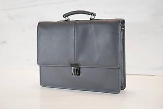 Veľké tašky - Pánska aktovka - Mikelo No.2 + peňaženka zadarmo - 10625710_