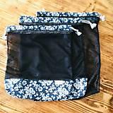 Úžitkový textil - Sada vrecka na ovocie zeleninu sieťka čierne - 10625453_