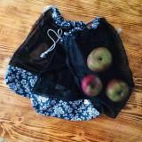 Úžitkový textil - Sada vrecka na ovocie zeleninu sieťka čierne - 10625454_