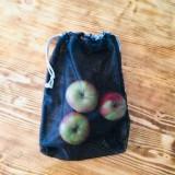 Úžitkový textil - Sada vrecka na ovocie zeleninu sieťka čierne - 10625461_