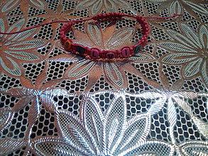 Náramky - Náramok ružový s menom Silvia - 10622307_