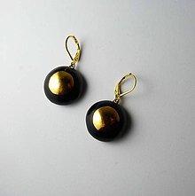 Náušnice - Tana šperky - keramika/zlato - 10622569_