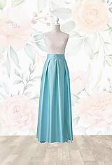 Sukne - MAXI skladaná sukňa s vreckami - 10625646_