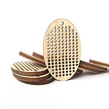 Polotovary - drevený výrez/podklad na vyšívanie vajíčko - 10624960_
