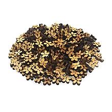 Galantéria - drevený gombík kvietok - 10625101_