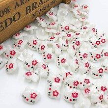 Galantéria - gombík plastový Hello Kitty - 10625167_