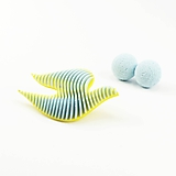 Sady šperkov - Set bobule a holubica sulfur yellow/baby blue - 10624484_