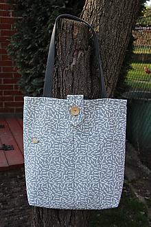 Nákupné tašky - Taška jemná šedá - 10622731_