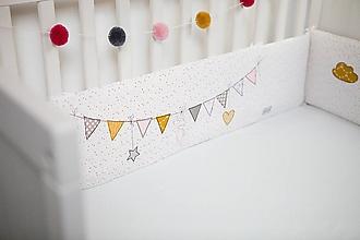 Textil - Mantinel do postieľky pre dievčatko - 10622890_